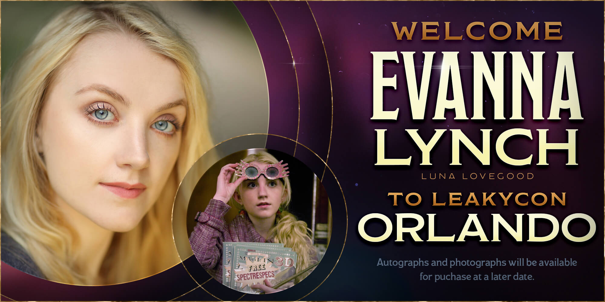 Welcome Evanna Lynch to Leakycon Orlando!