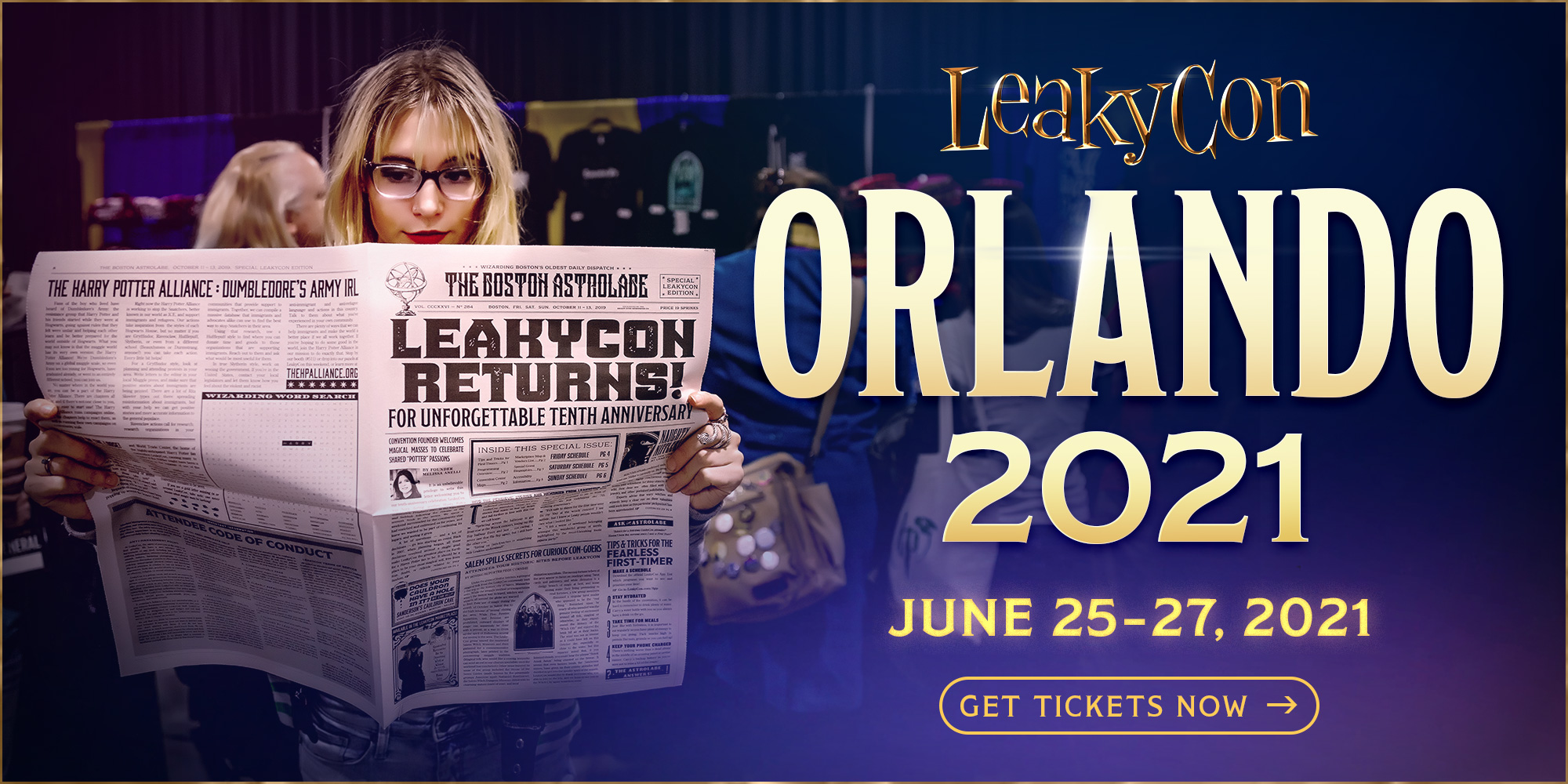 LEAKYCON ORLANDO: June 25–27, 2021  Get Tickets Now!