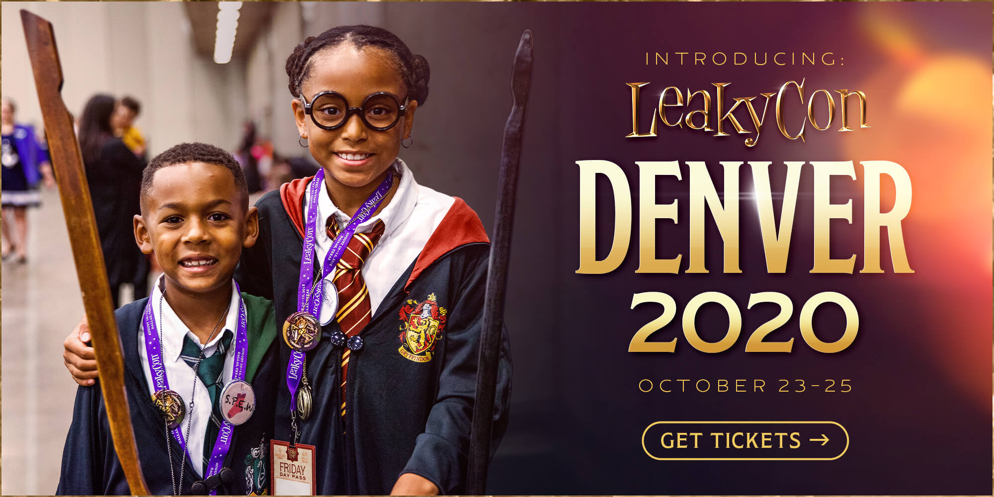 Introducing: LeakyCon Denver 2020. October 23–15, 2020. Earlybird tickets available now